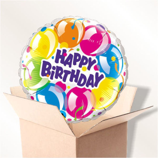 "Picture of Folienballon ""Happy Birthday"" Luftballons im Karton"