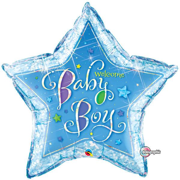 "Picture of Baby Boy Stern 36"" Folienballon"