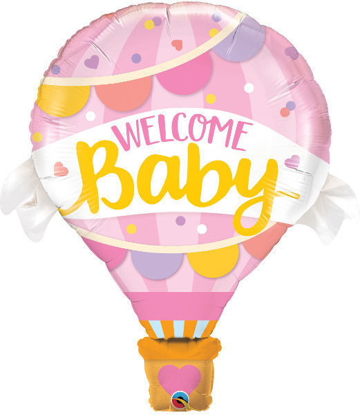 Picture of Welcome Baby pink Folienballon 42""