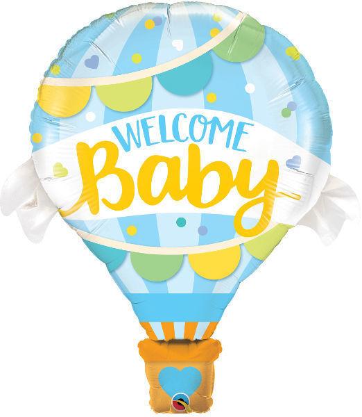 "Picture of Welcome Baby blau Folienballon 42"""