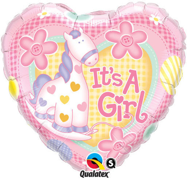Picture of It's a girl pony Folienballon 18""