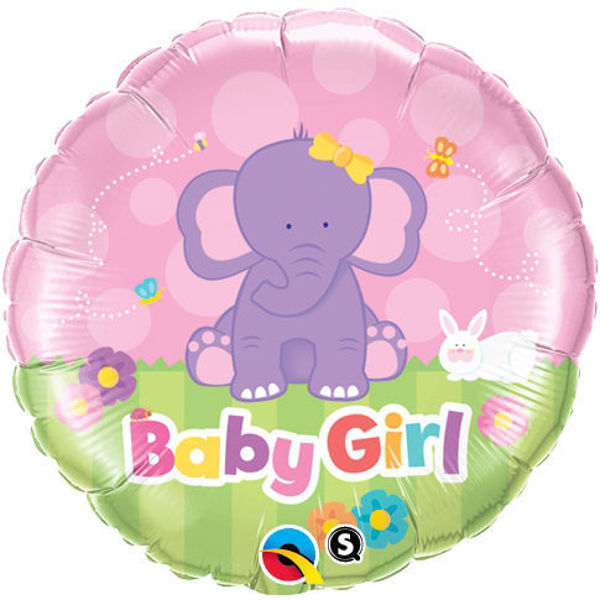 Picture of Baby Girl Elephant Folienballon 18""