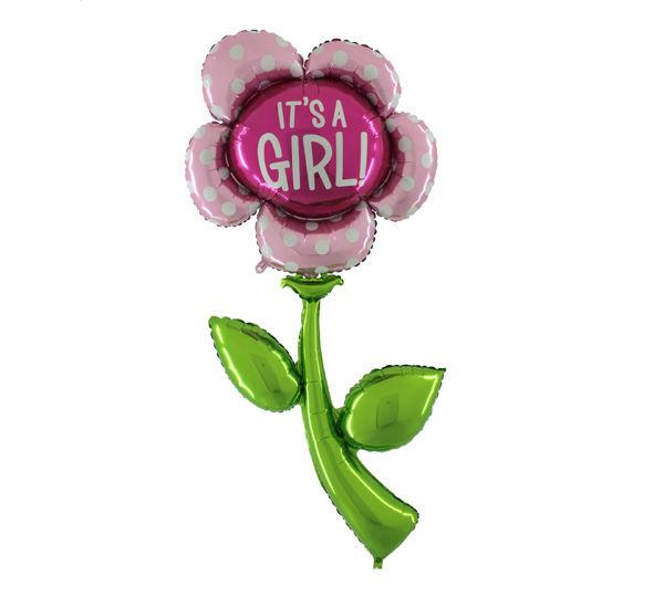 Picture of It's a girl blume folienballon xxl