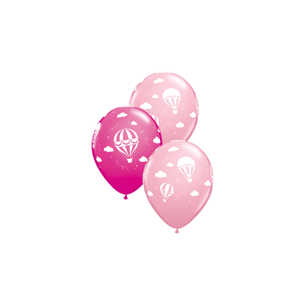 Picture of Latexballon Hot Air Balloons Pink und Wild Berry 11 inch