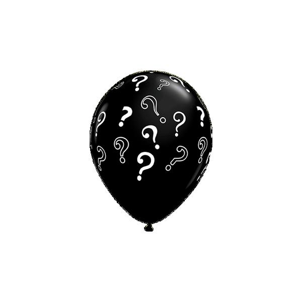 Picture of Latexballon Fragezeichen Schwarz 16 inch