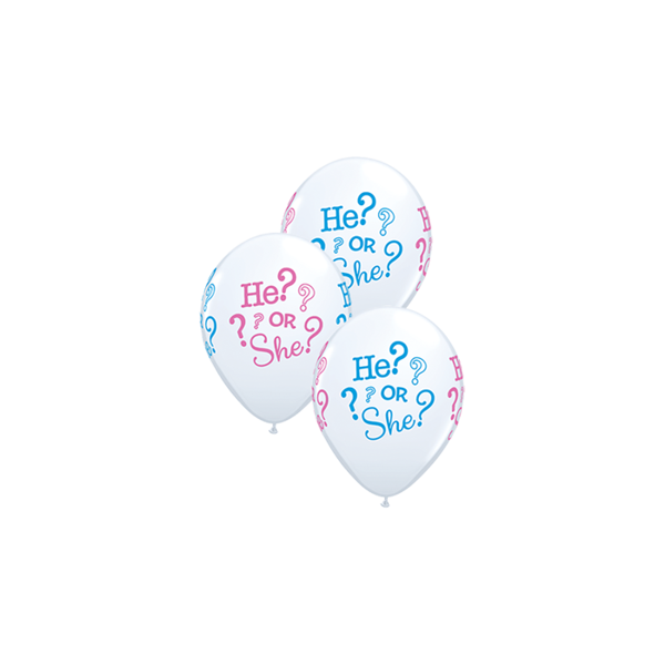 Picture of Latexballon He or She Babyshower 11 inch