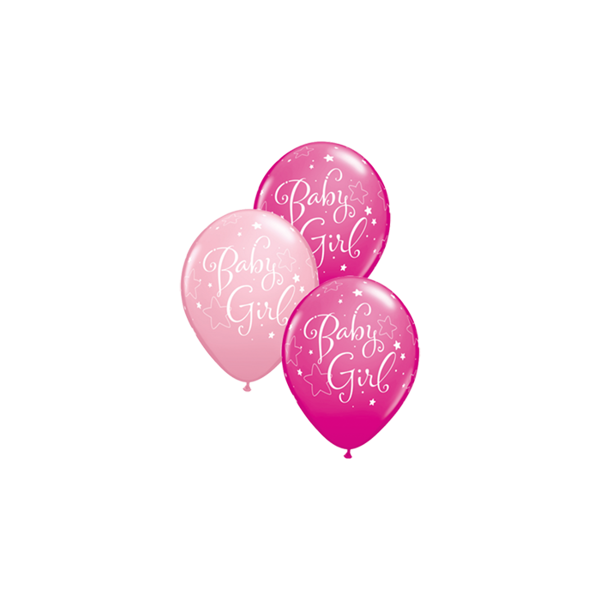 Picture of Latexballons Baby Girl Stars 11 inch