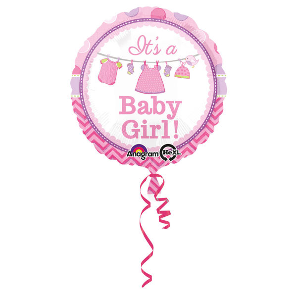"""Picture of It's a baby girl folienballon 18"""""""