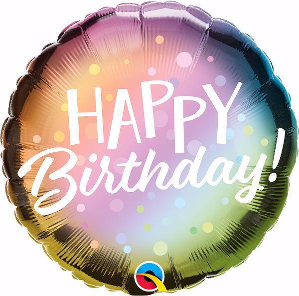 Picture of Folienballon Happy Birthday pastell