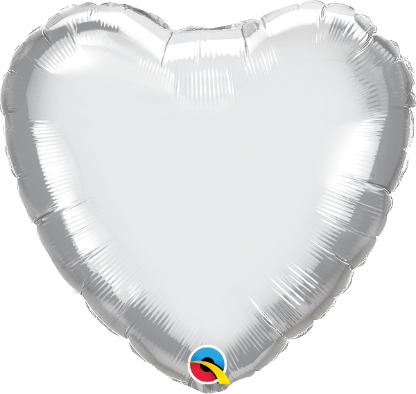Picture of Folienballon Herz  45cm Silber
