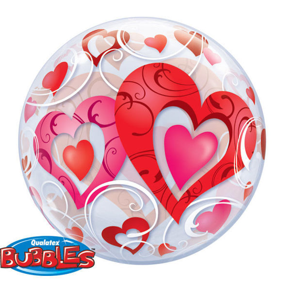 Picture of ENTWINED HEARTS SINGLE BUBBLE 22""