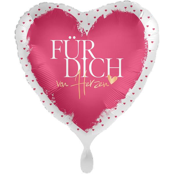 """Picture of Folienballon 18"""" Für Dich von Herzen"""