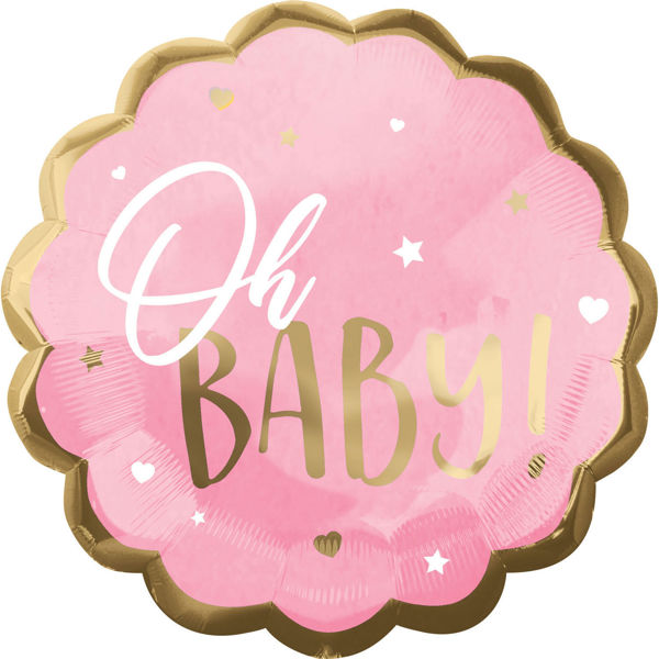 Picture of Jumbo Pink Baby Girl Folienballon
