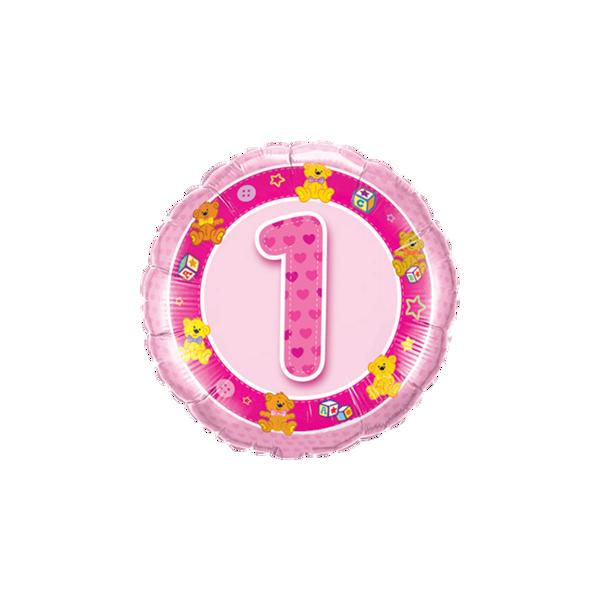 Picture of Folienballon Alter 1 rosa