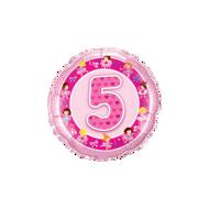 Picture of Folienballon Alter 5 rosa