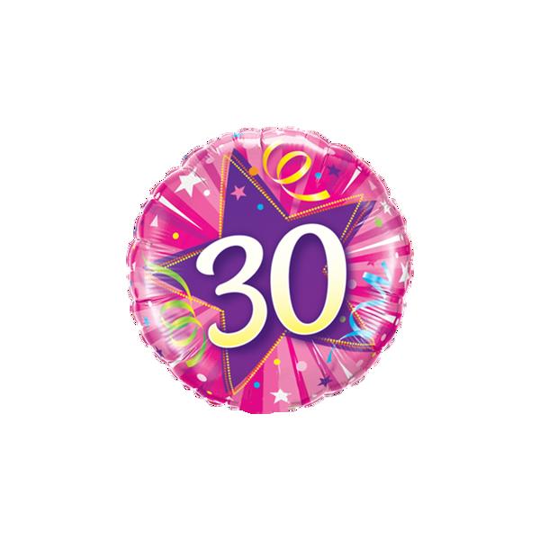 "Picture of 30 Shining Star Hot Pink Folienballon 18"""