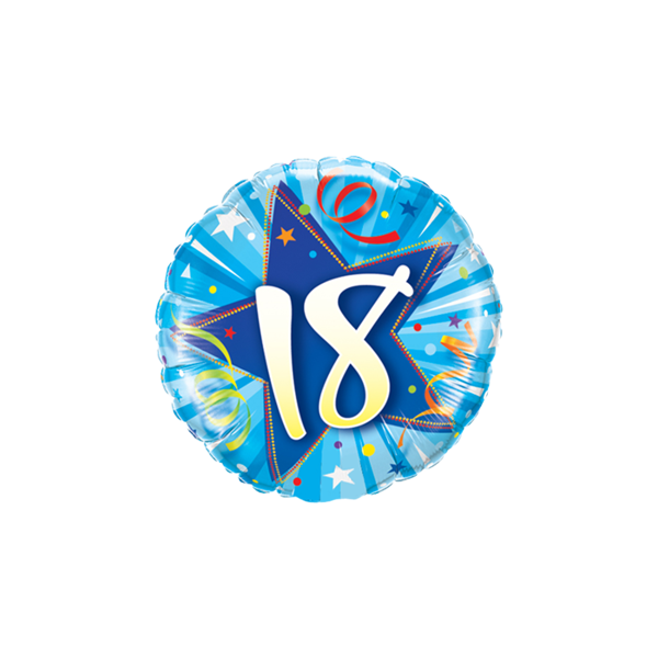 """Picture of 18 Shining Star Bright Blue Folienballon 18"""""""