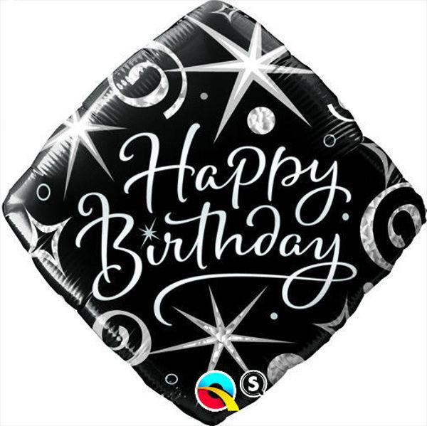 "Picture of BIRTHDAY ELEGANT SPARKLES & SWIRLS Folienballon 18"""