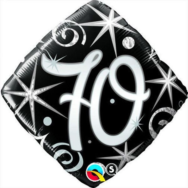"Picture of ""70"" ELEGANT SPARKLES & SWIRLS Folienballon 18"""