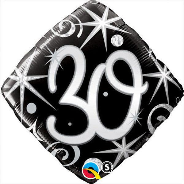 "Picture of ""30"" ELEGANT SPARKLES & SWIRLS Folienballon 18"""