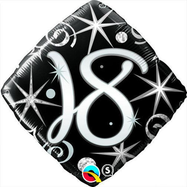 "Picture of ""18"" ELEGANT SPARKLES & SWIRLS Folienballon 18"""