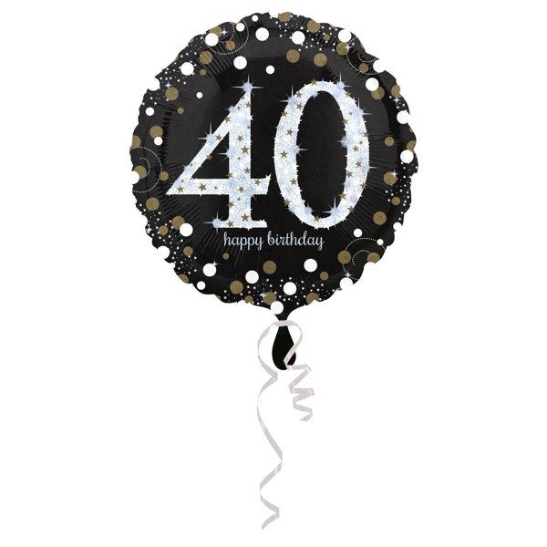 Picture of Sparkling Birthday 40 Folienballon