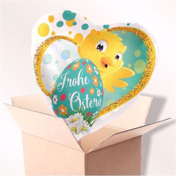 Picture of Folienballon Frohe Ostern Herz im Karton