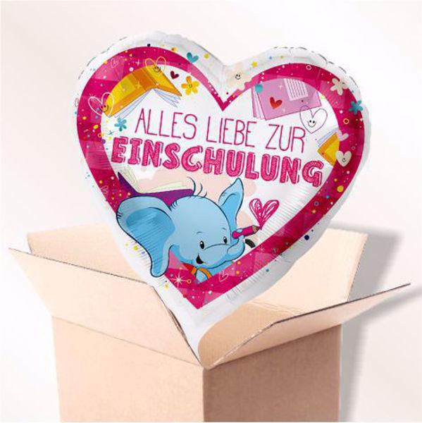 "Picture of Folienballon ""Alles Liebe zur Einschulung"" Pink im Karton"