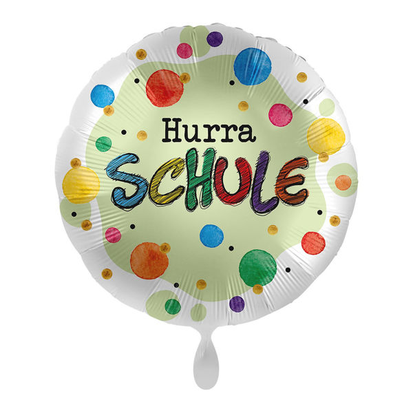 "Picture of Folienballon ""Hurra Schule"" im Karton"