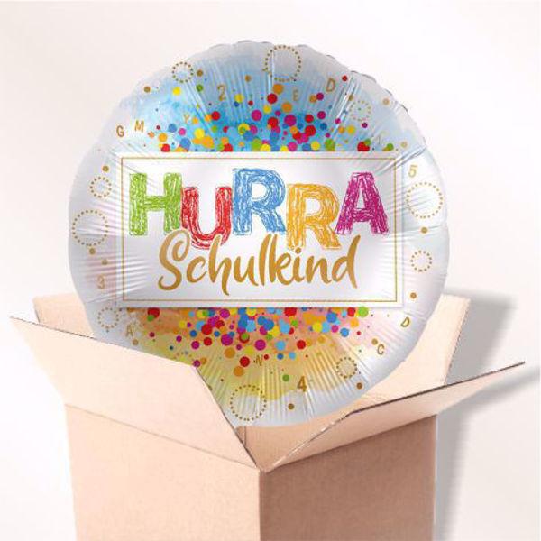 """Picture of Folienballon """"Hurra Schulkind"""" im Karton"""