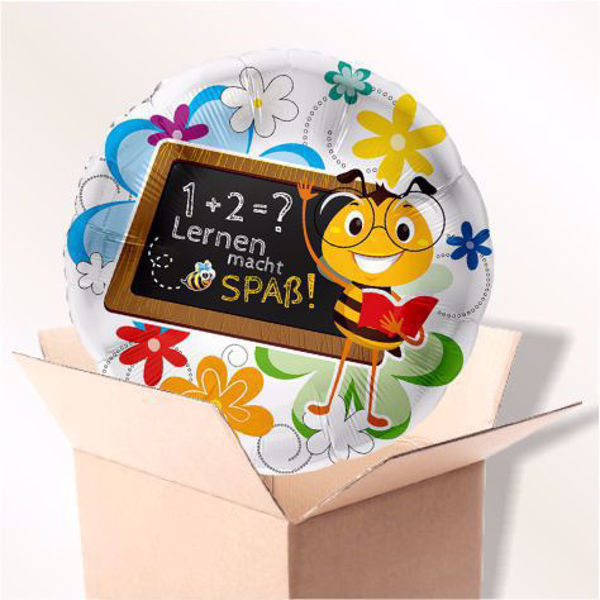 "Picture of Folienballon ""Lernen macht Spaß"" Biene im Karton"