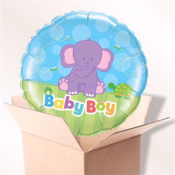 Picture of Folienballon Baby Boy Elefant im Karton