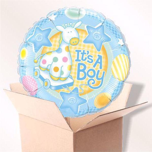 Picture of Folienballon It' s a boy im Karton