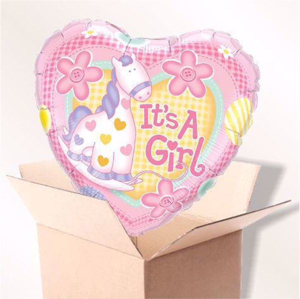 Picture of Folienballon It's a girl im Karton