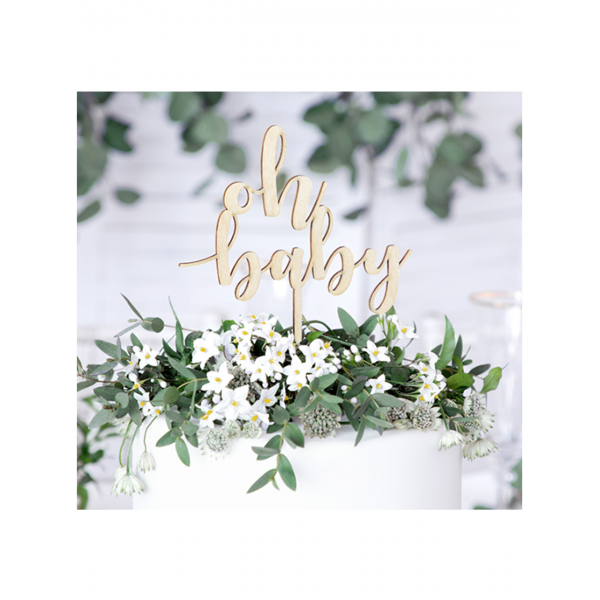 Picture of Cake Topper Holz - Oh Baby