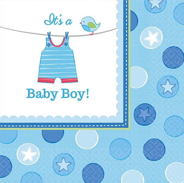 Picture of 16 Servietten Klein Baby Shower With Love Boy
