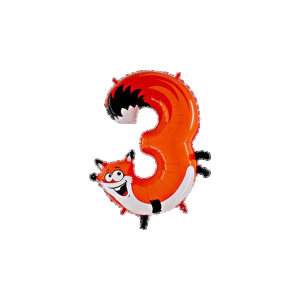 """Picture of Folienballon Animaloons """"3"""" Fuchs"""