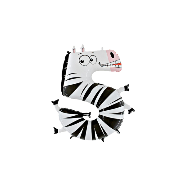 "Picture of Folienballon Animaloons ""5"" Zebra"