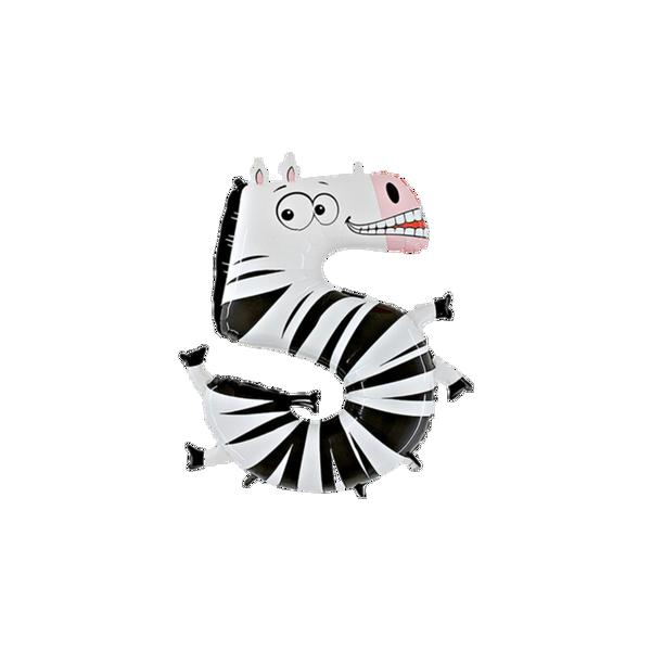 "Picture of Folienballon Animaloons ""5"" Zebra"