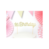 Picture of 1 Cake Topper - 1st Birthday - Gold