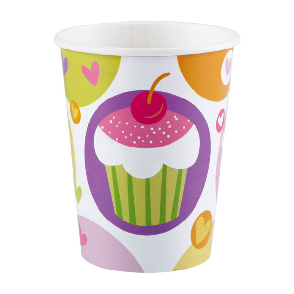 Picture of 8 Becher Cupcake Papier 250 ml