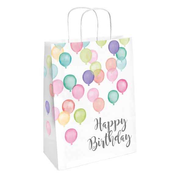 Picture of 2 Paper Bags Happy Birthday Pastel