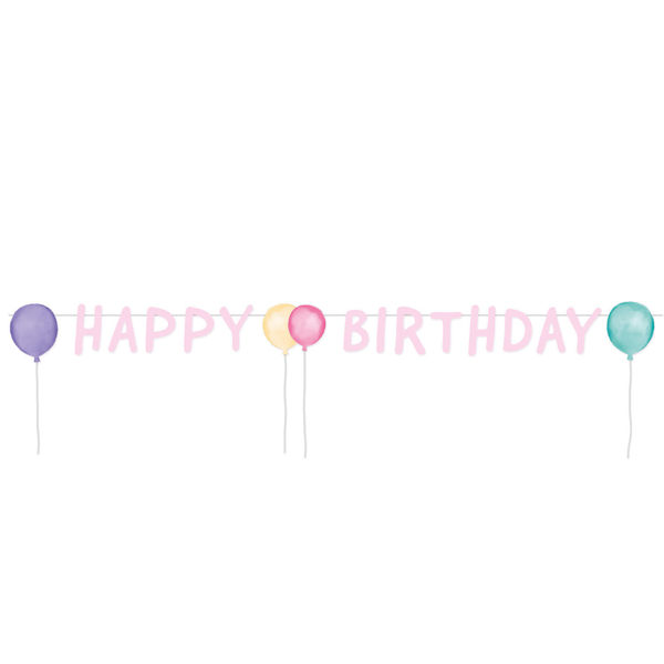 Picture of Letter Banner Happy Birthday Pastel