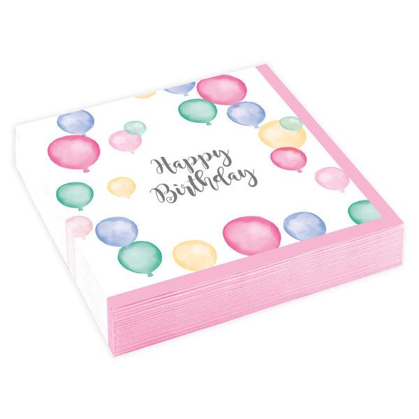 Picture of 20 Napkins Happy Birthday Pastel Klein