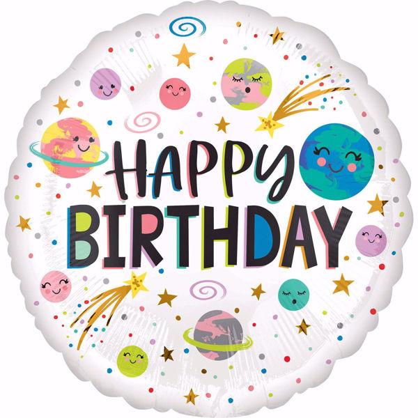 Picture of Folienballon Happy birthday Galaxie