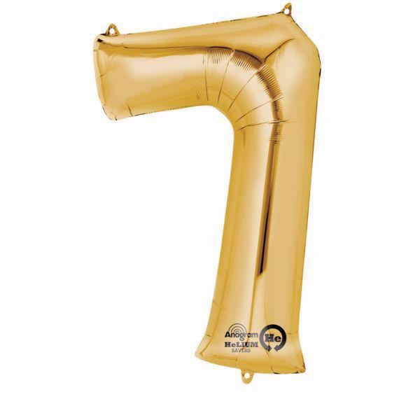 Picture of Folienballon 7 Gold Zahl XXL