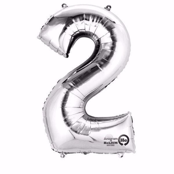 Picture of Folienballon 2 Silber Zahl XXL