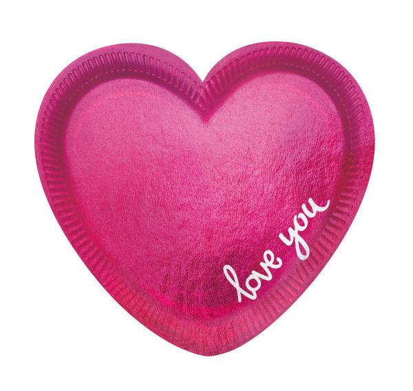 Picture of 6 Formteller Herz Everyday Love Papier