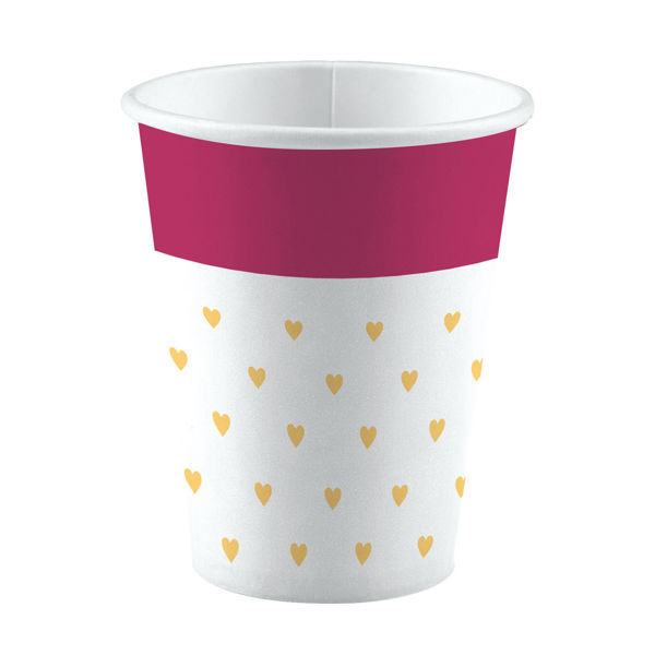 Picture of 8 Becher Everyday Love Small hearts Papier 250 ml