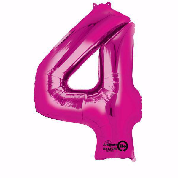 Picture of Folienballon 4 Pink Zahl XXL